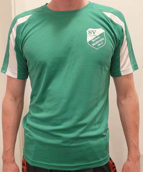 """Mesh Shirt """"Grün Weiß"""" Vorderseite"""