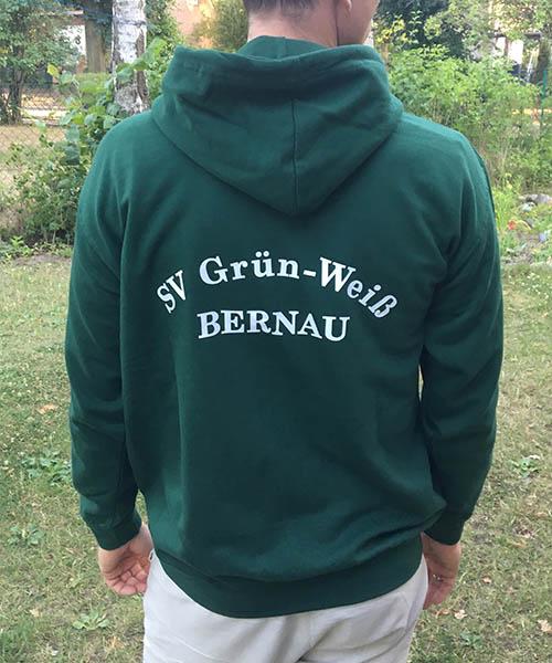 """Kapuzenjacke """"Grün-Weiß"""" Rückseite"""