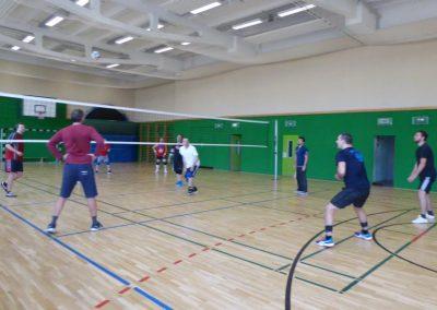 Volleyball-Gruppe II beim Spiel