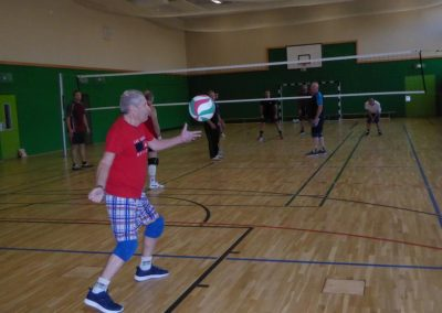 Aufschlag beim Volleyball in Bernau