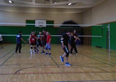 Faires Abklatschen nach dem Volleyball-Spiel